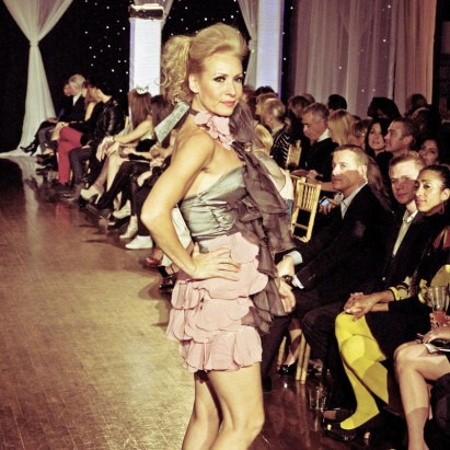 Design by Cory Couture shown at Next Fashion 2012 runway show at Germania Place during Fashion Focus Week Chicago.
